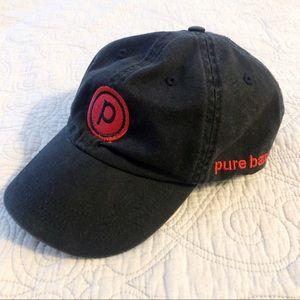 Pure Barre Black & Red Baseball Cap / Dad Hat